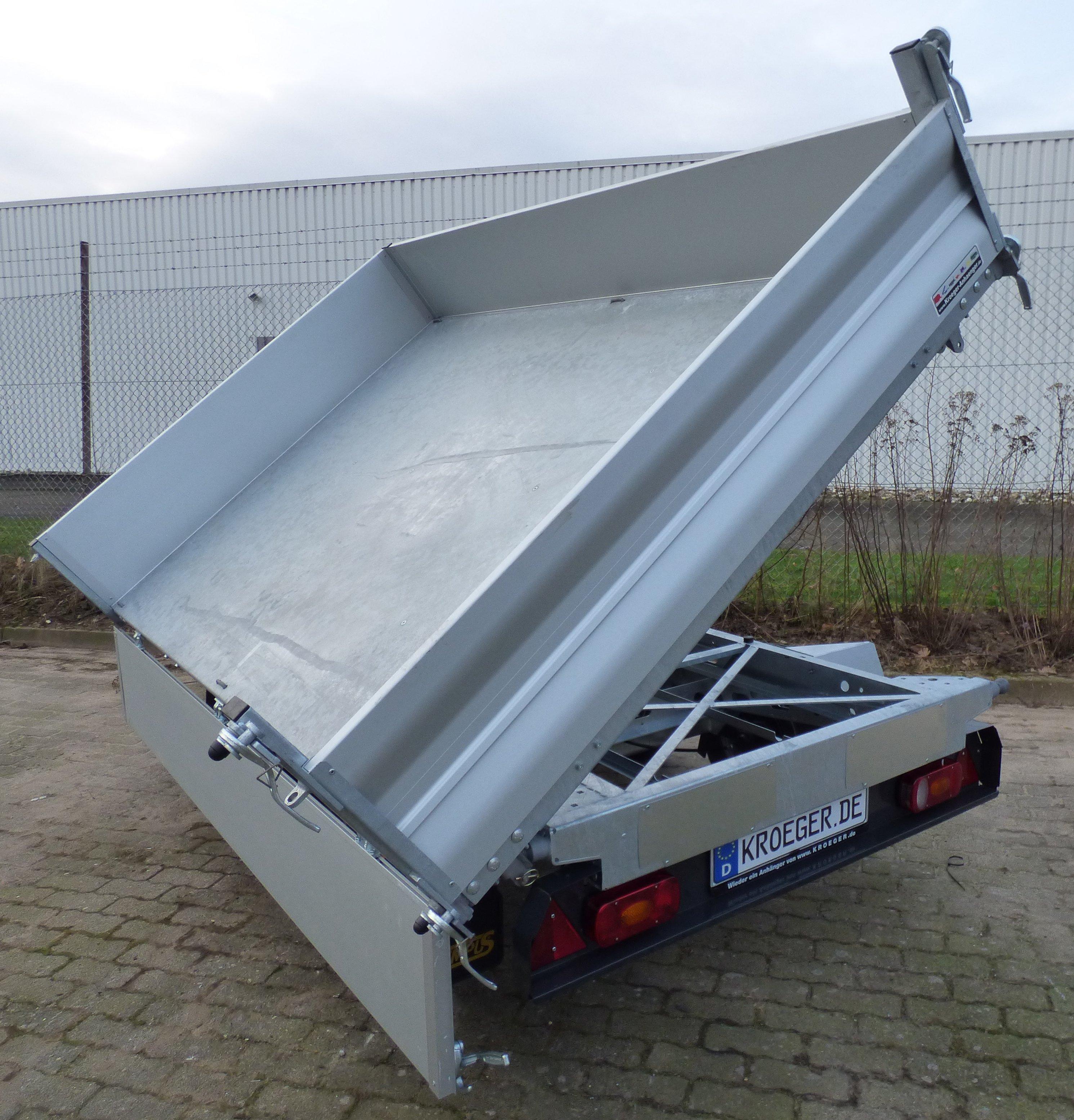 Tempus DSK 252617 Profi-Tandem-Dreiseitenkipper mit hoher Nutzlast ...