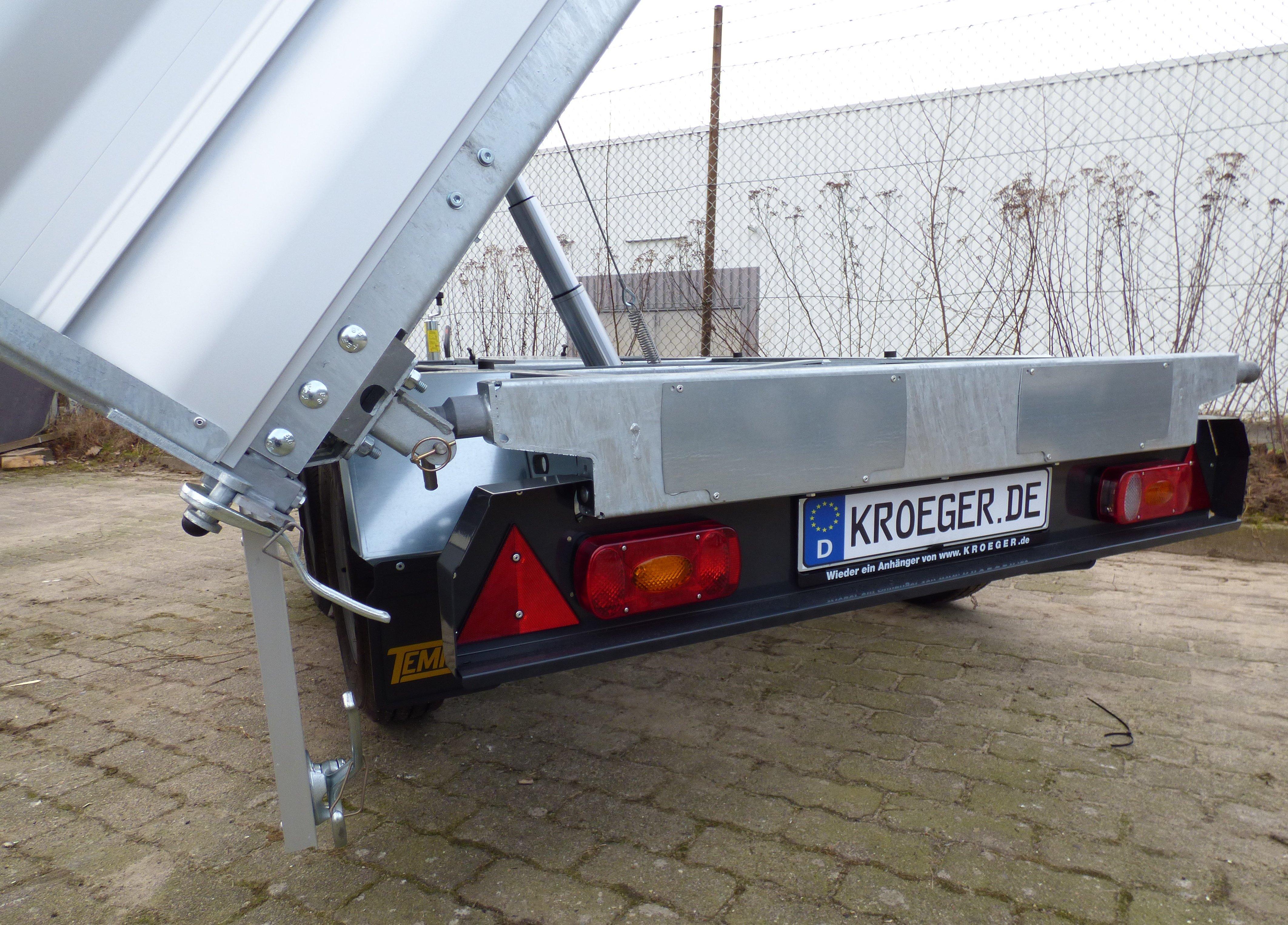 Tempus DSK 252617 mit E- Handpumpe Profi-Tandem-Dreiseitenkipper mit ...
