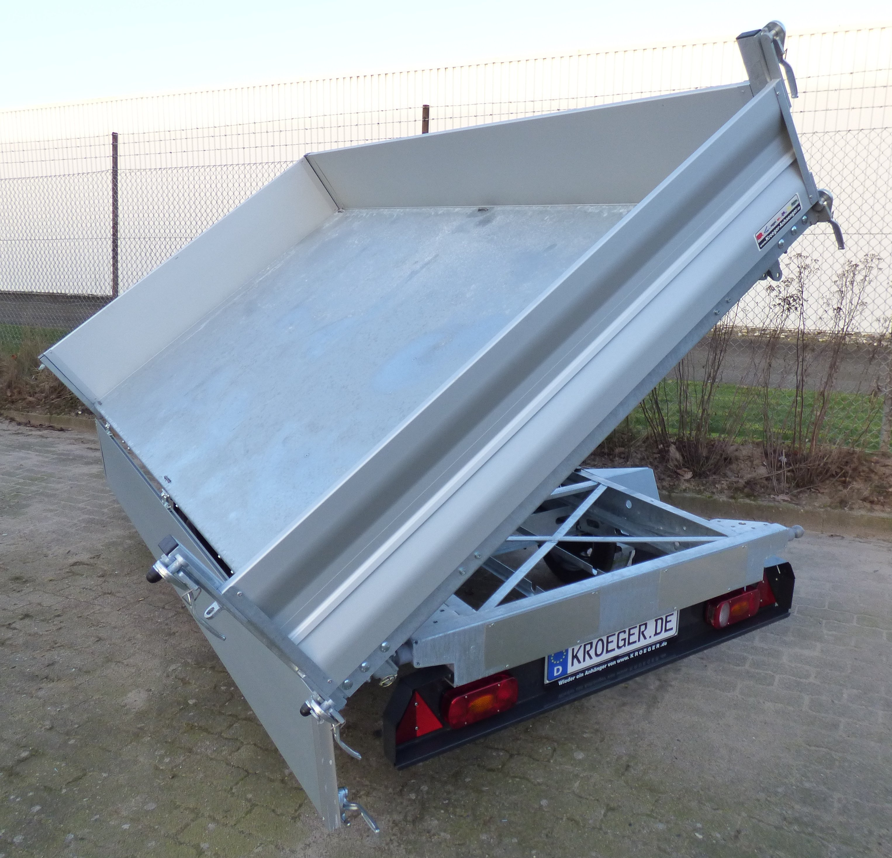 Tempus DSK 353617 Profi-Tandem-Dreiseitenkipper E-Pumpeneinheit ...