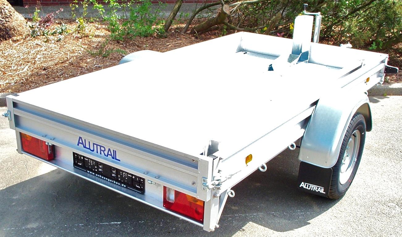 Alutrail 12 Z 26 14 mit Vorderradwippe und 400 kg Alurampe 200x30cm ...